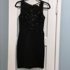 Aidan Mattox Black Sequin Dress